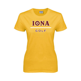 Ladies Gold T Shirt-Golf