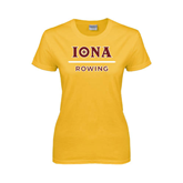 Ladies Gold T Shirt-Rowing