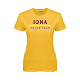 Ladies Gold T Shirt-Dance Team