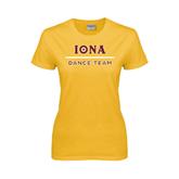 Ladies Gold T Shirt-Dance Team