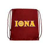 Cardinal Drawstring Backpack-Iona Wordmark