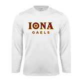 Performance White Longsleeve Shirt-Official Logo