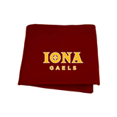 Maroon Sweatshirt Blanket-Official Logo