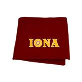Maroon Sweatshirt Blanket-Iona Wordmark