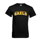 Black T Shirt-Arched Iona College Gaels