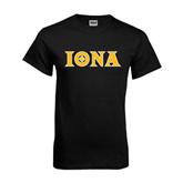 Black T Shirt-Iona Wordmark