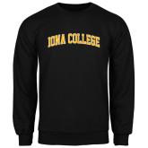 Black Fleece Crew-Arched Iona College
