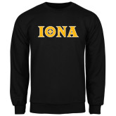 Black Fleece Crew-Iona Wordmark