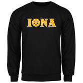 Black Fleece Crew-Iona Wordmark