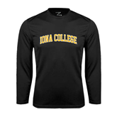 Performance Black Longsleeve Shirt-Arched Iona College