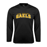 Performance Black Longsleeve Shirt-Arched Iona College Gaels