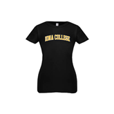 Youth Girls Black Fashion Fit T Shirt-Arched Iona College