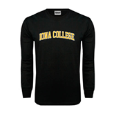 Black Long Sleeve TShirt-Arched Iona College