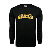 Black Long Sleeve TShirt-Arched Iona College Gaels