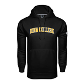 Under Armour Black Performance Sweats Team Hoodie-Arched Iona College