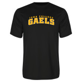Performance Black Tee-Arched Iona College Gaels