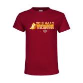 Youth Maroon T Shirt-2018 MAAC Mens XC Champions