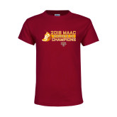 Youth Maroon T Shirt-2018 Womens XC MAAC Champions