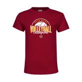 Youth Maroon T Shirt-2018 MAAC Volleyball Champions