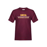 Youth Maroon T Shirt-Swimming and Diving