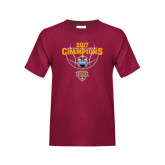 Youth Maroon T Shirt-MAAC Mens Basketball Champs