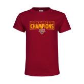 Youth Maroon T Shirt-2018 Mens Basketball Champions - Box
