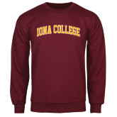 Maroon Fleece Crew-Arched Iona College