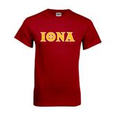 Cardinal T Shirt-Iona Wordmark