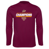 Syntrel Performance Maroon Longsleeve Shirt-MAAC Mens Basketball Champs