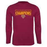 Performance Maroon Longsleeve Shirt-2018 Mens Basketball Champions - Box