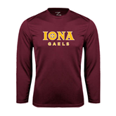 Syntrel Performance Maroon Longsleeve Shirt-Official Logo