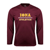 Performance Maroon Longsleeve Shirt-Athletics