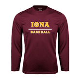Syntrel Performance Maroon Longsleeve Shirt-Baseball