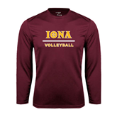 Syntrel Performance Maroon Longsleeve Shirt-Volleyball