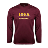 Syntrel Performance Maroon Longsleeve Shirt-Softball