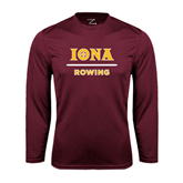 Performance Maroon Longsleeve Shirt-Rowing