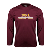 Performance Maroon Longsleeve Shirt-Swimming and Diving