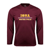 Syntrel Performance Maroon Longsleeve Shirt-Water Polo
