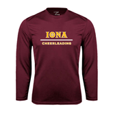 Syntrel Performance Maroon Longsleeve Shirt-Cheerleading