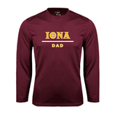 Syntrel Performance Maroon Longsleeve Shirt-Dad