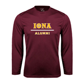 Syntrel Performance Maroon Longsleeve Shirt-Alumni