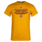 Gold T Shirt-2018 Mens Basketball Champions - Brush