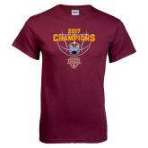 Maroon T Shirt-MAAC Mens Basketball Champs
