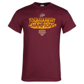 Maroon T Shirt-2018 Mens Basketball Champions - Brush