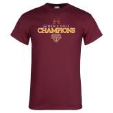 Maroon T Shirt-MAAC Mens Golf Champs