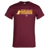 Maroon T Shirt-2018 Womens XC MAAC Champions