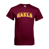 Maroon T Shirt-Arched Iona College Gaels