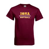 Maroon T Shirt-Softball