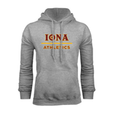 Grey Fleece Hoodie-Athletics