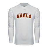 College  Under Armour White Long Sleeve Tech Tee-Arched Iona College Gaels